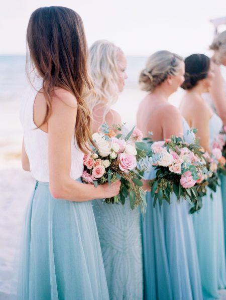 A Grand Coral Beach Club Wedding With Cotton Candy Hues Wedding
