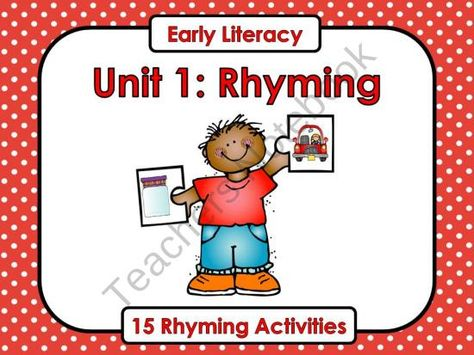 Early Literacy Unit 1: Rhyming  from Teaching With Nancy  on TeachersNotebook.com (140 pages)