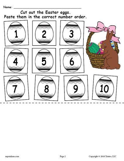 Printable Easter Egg Number Ordering Worksheet Numbers 1-10! Ordering  Numbers, Easter Printables Free, Number Order Worksheets