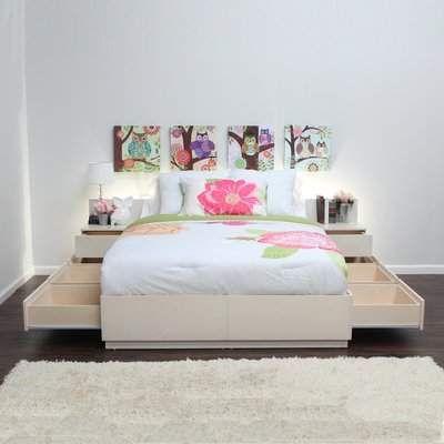 Storage Platform Bed Gothic Furniture