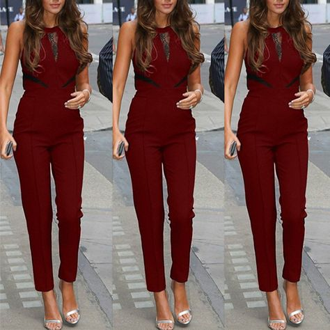 Item Type: Jumpsuits & Rompers Gender: Women Style: Fashion Pattern Type: Solid Material: Acrylic,Cotton,Polyester Decoration: Lace Fabric Type: Broadcloth Fit Type: RegularLength: Full Length