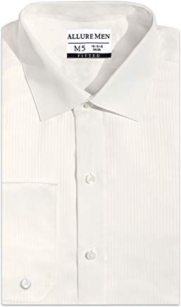 Style Denny Luxe Microfiber Mens Regular Fit Solid Dress Shirt Spread Collar