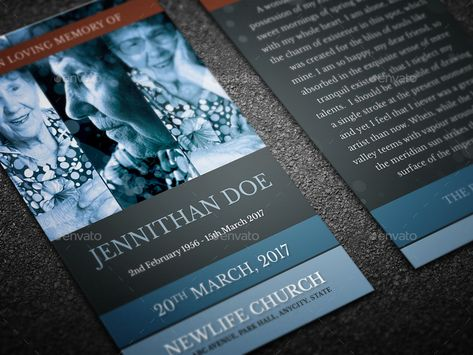 Modern Funeral Programme Prayer Card 09
