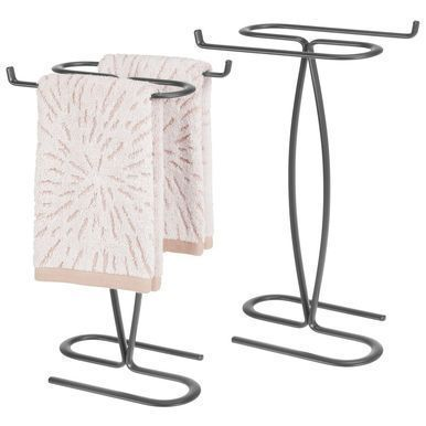 Bathroom Countertop Guest Hand Towel Stand Holder Mdesign Bathroom Countertop Bathroom Countertop G In 2020 Guest Hand Towels Hand Towel Stand Fingertip Towels