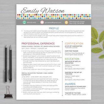 Resumes Designed For Teachers And Educators Teacher Resume