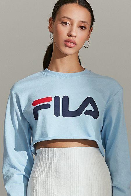 fila sweatshirt vintage, Fila TEE T shirt imprimé grey Femme
