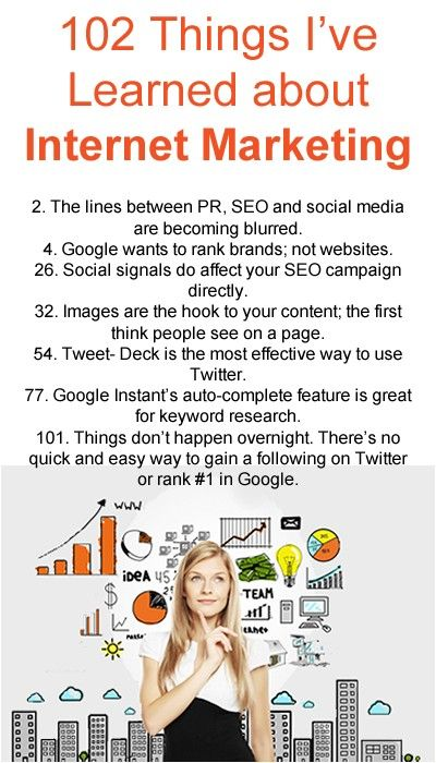 102 Things I've Learned About Internet Marketing | SEO.com
