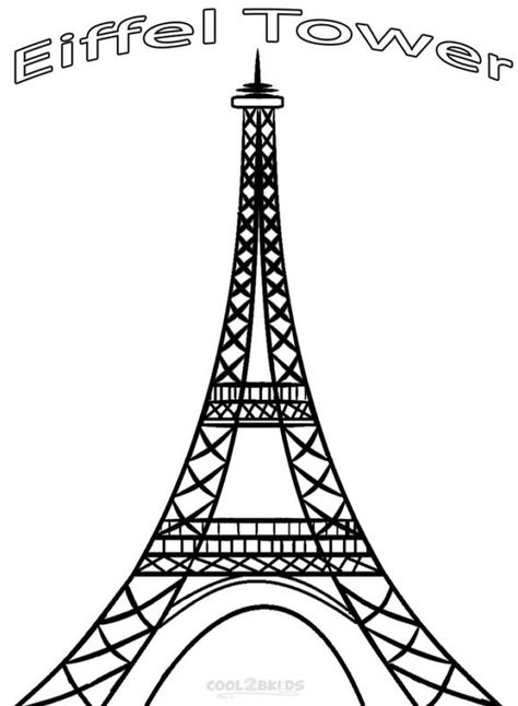 Free Printable Eiffel Tower Coloring Pages 7 Wonders Eiffel