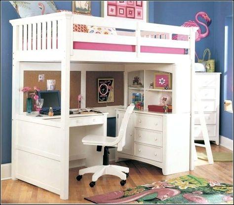 Desks Underneath Loft Bed Desk, Beds With Desks Under Them
