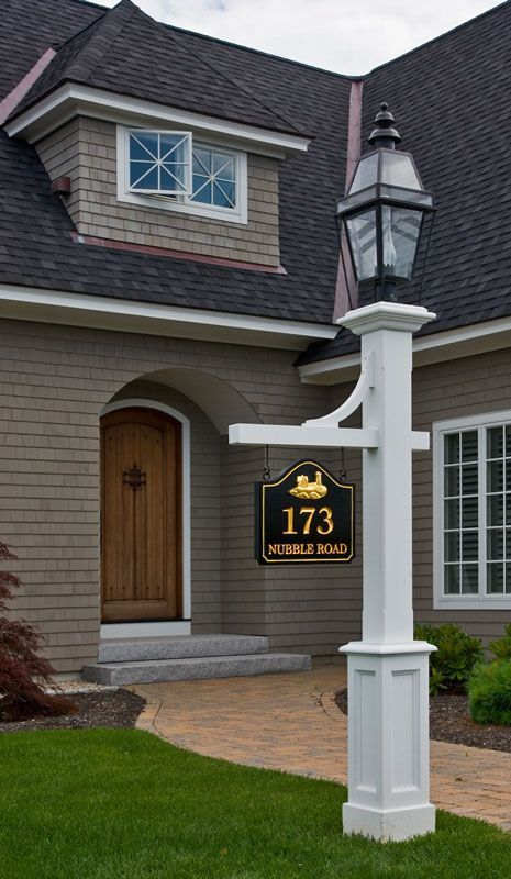 Outdoor Lamp Posts Front Yard Lighting, White Lamp Post With House Number