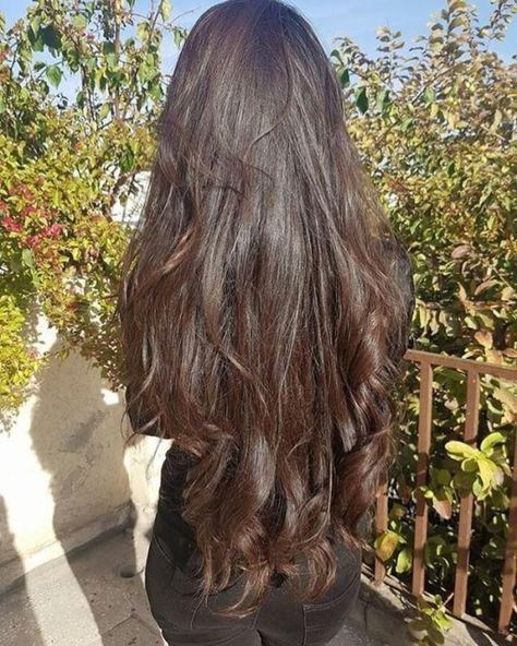 How to Grow Super Long Hair You'll Need: 1 tbsp coconut oil 1 tbsp . Save This PIN Long Curly Hair, Curly Hair Styles, Straight Hairstyles, Cool Hairstyles, Wedding Hairstyles, Really Long Hair, Aesthetic Hair, Beautiful Long Hair, Dream Hair
