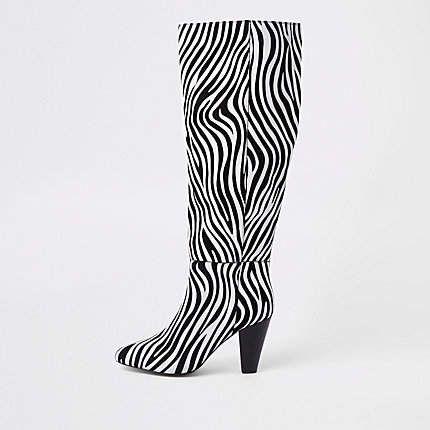 River Island Black leather zebra print