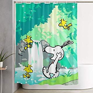 snoopy shower curtain at snoopy