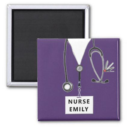 personalized nurse collectible magnet