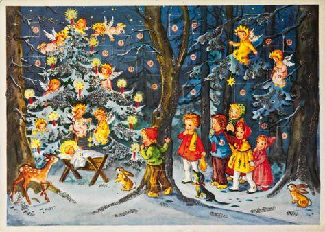 I 1950 Erne Og 1960 Erne Er Der Mange Forskellige Julekalendere At Vaelge Imellem Mange Piger Tager Dem Med Glimmer Pa Glimmer 1960 Erne Jul