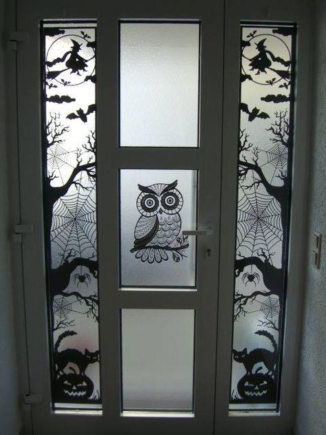Plotte Dieses Xxl Halloween Fensterbild Als Turdekoration Halloween Fensterbilder Halloween Turdekoration Halloween Fenster