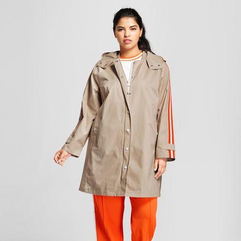 d4c730b04d9b2 Hunter for Target Women's Plus Size Hooded Trench Coat - Khaki 1X, Beige
