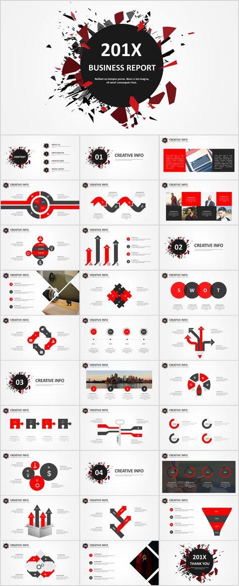 Best Red Black Business Design Powerpoint Templates