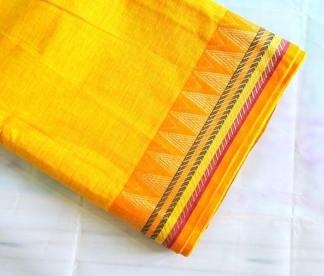 Yellow  Shot cotton fabric, handwoven cotton fabric, Indian fabric with  border, golden trim fabric,half yard #quilting #indianfabrics #chezviesfabrics #fabricshopping