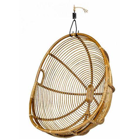 Hangstoel Rotan Wit.Lifestyle Davis Hanging Chair Hangstoel Van Bamboe Riet Hangend