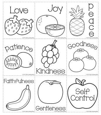 Fruit Of The Spirit Memory Match Cards Christian Preschool Sunday School Activities Sunday School Curriculum