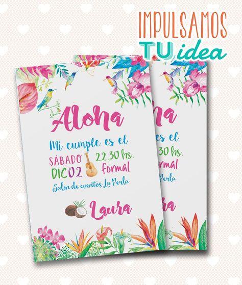 Tarjeta De 15 Tropical Invitación De 15 Hawai