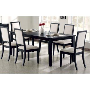 Birch Lane Firman 7 Piece Dining Set Black Dining Room Black Rectangular Dining Table Dining Table