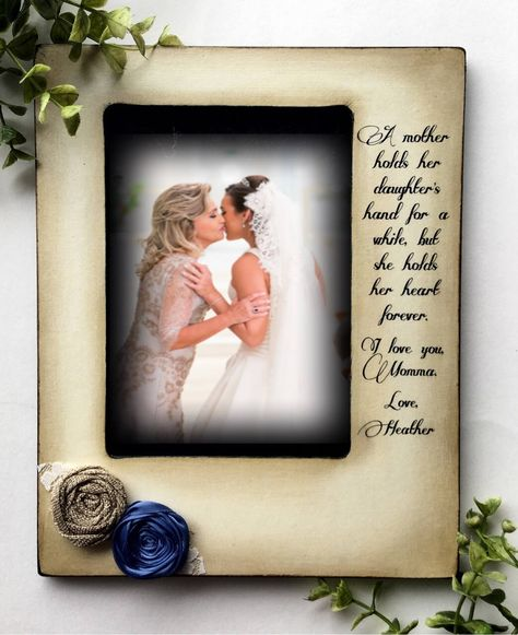 Mom Mother Of The Bride Gift A Mother Holdspictureweddingmother