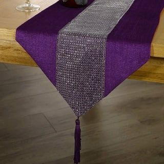 Tassel Table Runner Rhinestone European Dinner 12 X 72 Purple Table Runners Fall Table Decor Purple Table