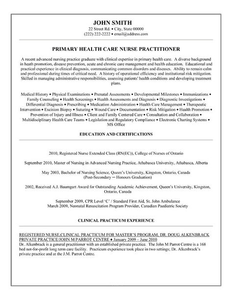 mid-level provider manager nurse practitioner Resume Example - new nursing grad resume