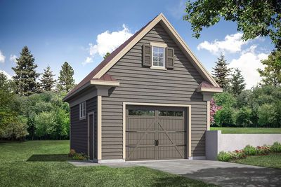 Plan 72990da Simple Detached Garage With Single Garage Door In 2021 Garage Door Design Country Style House Plans Barn Style House