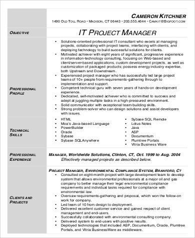 31 Project Manager Resume Pdf Cover Letter Templates