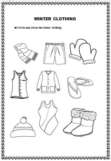 It S Winter Time Clothes Worksheet Winter Preschool Kindergarten Worksheets Winter worksheet for preschoolers