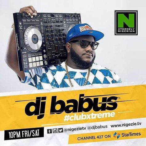 It's going down tonight! Catch me on Club Xtreme every Friday & Saturday 10pm - 12am on Nigezie TV.  Best video mix of club bangers from around the world!  #DJ #DJBabus #Party #Music #GoodMusic #Club #NewMusic #Rave #np #BrandNewMusic #BrandNew #Video #VDJ #Friday #Saturday #ClubXtreme #ClubXtremeWithDJBabus #TV #Pioneer #PioneerDDJ #Snapback #Cavs #Weekend #Weeknd #Startimes #Channel cc @nigezietv