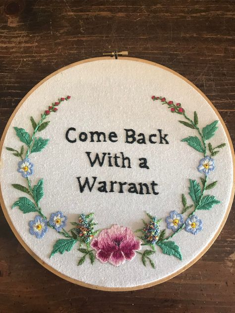 My first commissioned work for a lawyers office. Funny Embroidery, Embroidery Art, Cross Stitch Embroidery, Embroidery Patterns, Sewing Crafts, Sewing Projects, Bordados E Cia, Crafty Craft, Crafting