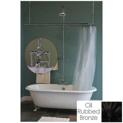 Leg Tub Shower Enclosure Set In 54 X 27 D Curtain Ring In Rings