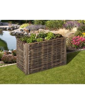 Mr Gardener Hochbeet 120x60x80cm Haselnuss Inkl Pflanzfolie Ohne Boden Aus Naturlichen Materialien Garten Pflanzen