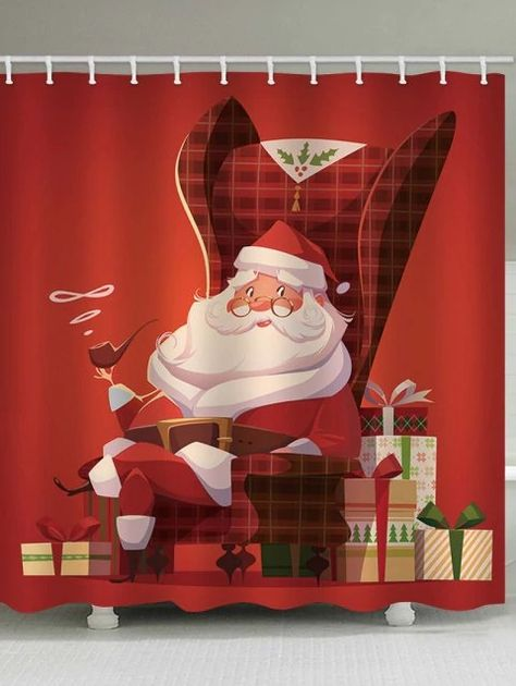 Dresslily Homedecor Christmas Shower Curtains Shower Curtain Rod