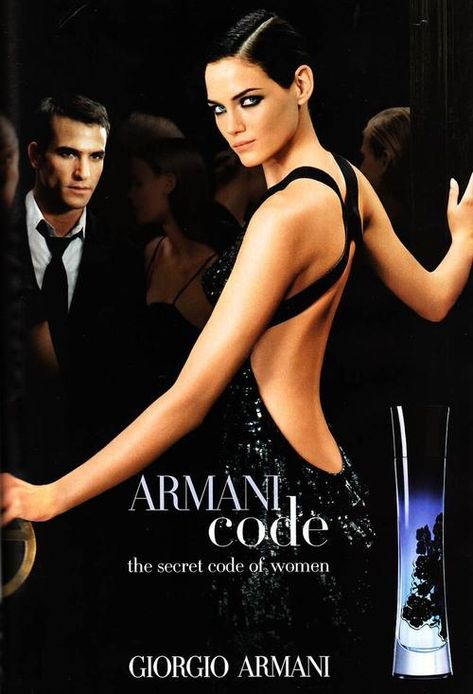 Mini Anden for Armani Code. Probably my favorite perfume ad ever. She's ridiculously beautiful