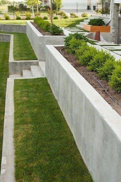 Garten Wand Garten Landschaftsbau Garten Landschaftsbau In 2020 Sloped Backyard Landscaping Retaining Walls Backyard Landscaping