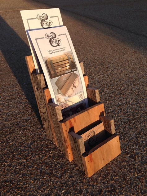 Pallet Business Card Double Brochure Holder By Givetake On