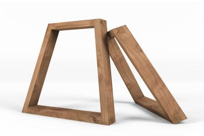 Tischkufen Aus Holz Schrag 2er Set Tischbeine Holz Harz Mobel Holz