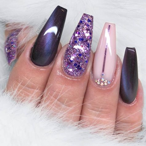Chosen Ideas Of Purple Nails You Are Bound To See ★ See more: https://naildesignsjournal.com/purple-nails-designs/ #nails