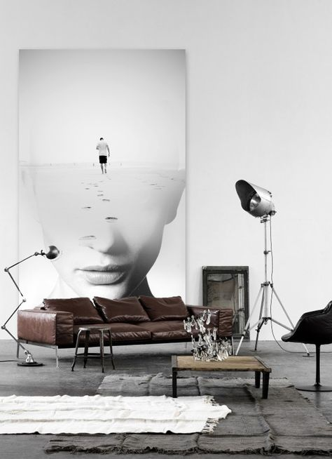 """AM artworks - """"Bye"""", printed vinyl over cardboard 220x90. collage sobre viejos tablones de madera o vinilo . # Decoración # casa # diseño . Info sale pil4r@routetoart.com"""