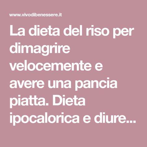 Dieta ipocalorica per perdere peso velocemente