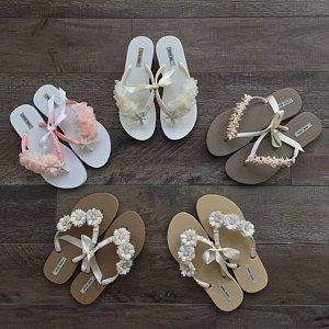 7ae4728ae NWT Bridal flip flops NWT - a gift that I never used. Size is Large (9 10).  This is my LOWEST ADVERTISED PRICE. Get 20% off if you BUN…