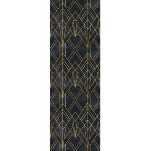 Mercer41 Trotman Art Deco Removable Peel And Stick Wallpaper Panel Wayfair Peel And Stick Wallpaper Wallpaper Roll Self Adhesive Wallpaper