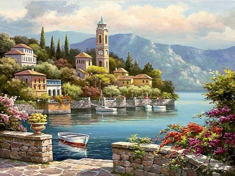 Coast Of Italy Vango Kit Wish List Toile Peinture Peinture