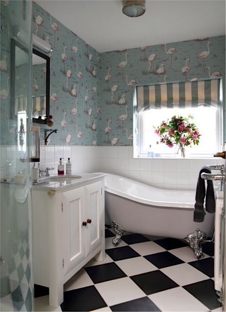 Small Bathroom But Still Managed To Shoehorn In A Shower Cubicle Slipper Bath And Freestanding S Slipper Bath Bathrooms Small Cottage Bathrooms Small Bathroom