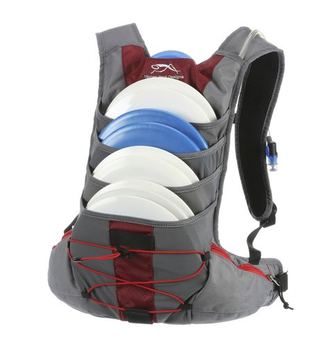 Disc Golf Backpack Bag - The New Focus Red
